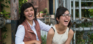 Sisters Share a Laugh During Senior Sess
