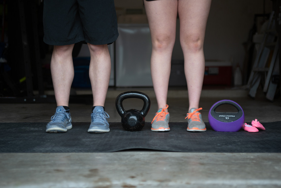 A Family That Works Out Together Themed Details