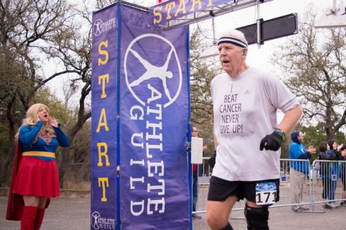 Cancer Survivor runs in support of victi