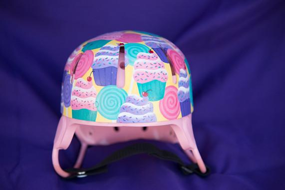 Cupcakes and Lollipop Helmet