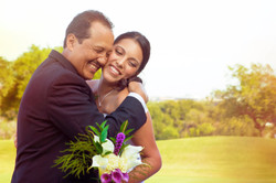 Bride Shares a Hug with her Father