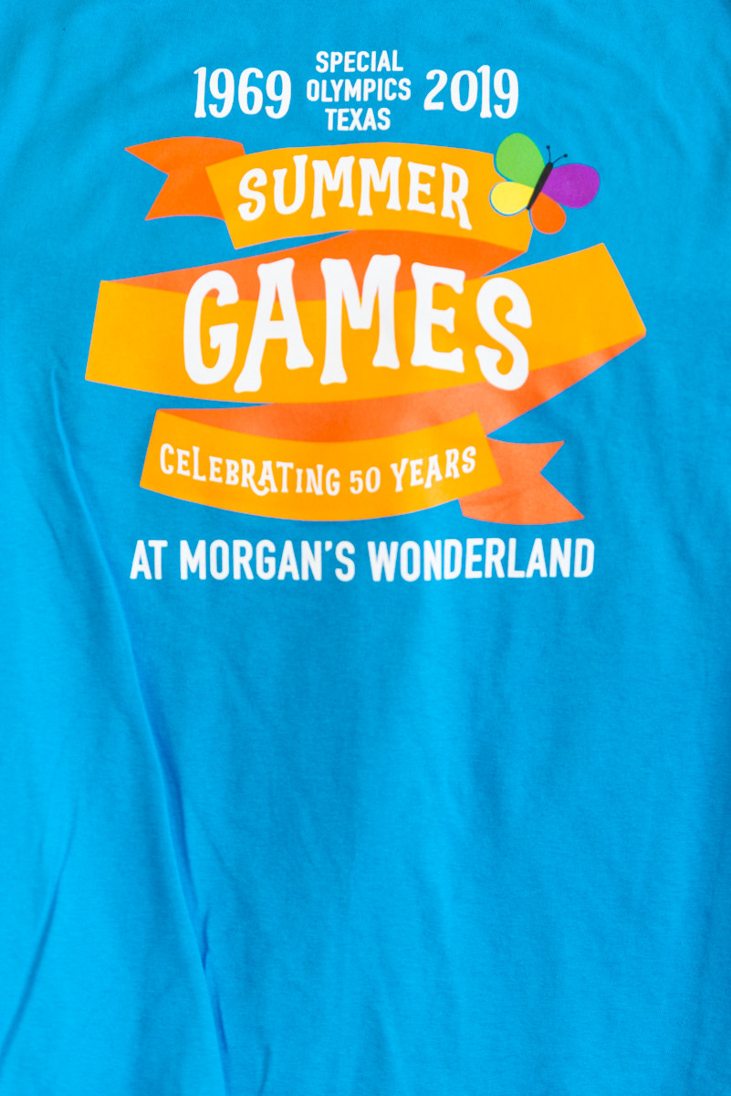 Volunteer t-shirt for the 1st ever San Antonio held STOX Summer Games