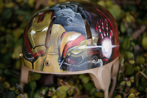 Hand Painted Iron Man Helment