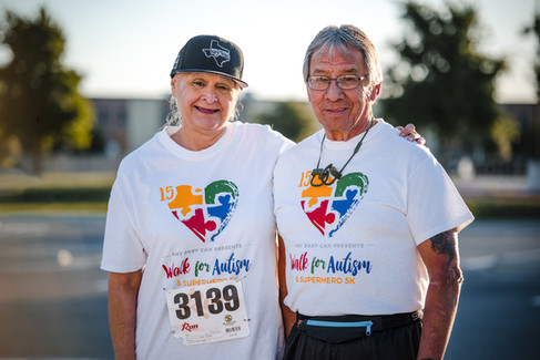 Husband and Wife at the #WalkForAutism