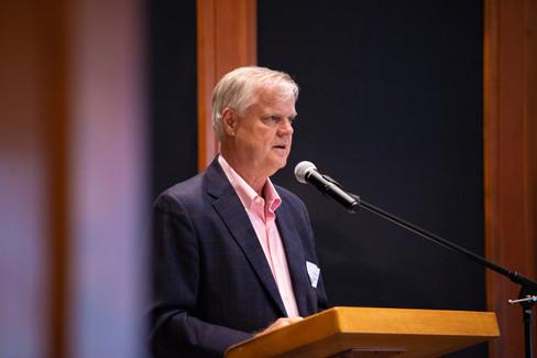 Doug Beavers speaks to mental health lea
