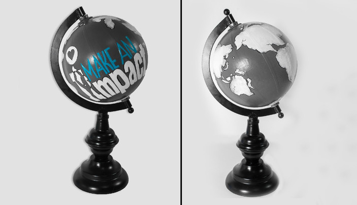 Hand Painted Globes