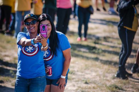Ladies get together for a selfie