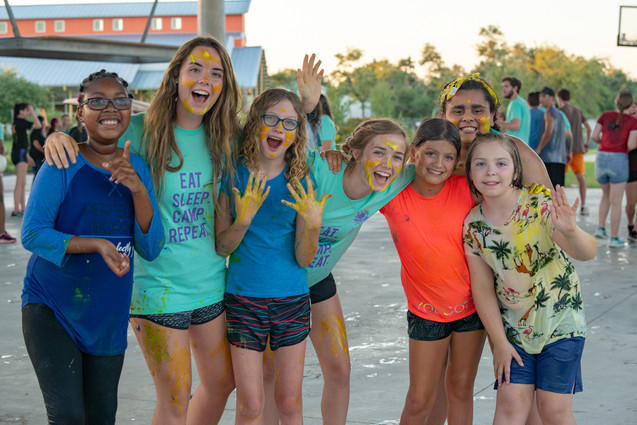 Campers Enjoy a Fun Paint and Ice Cream