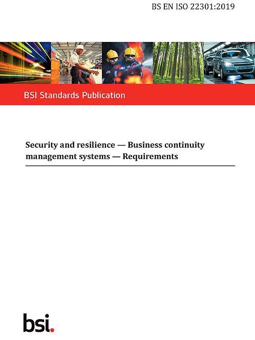 BS EN ISO 22301:2019