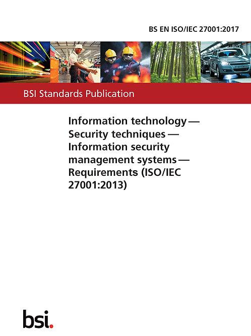 BS EN ISO/IEC 27001:2017