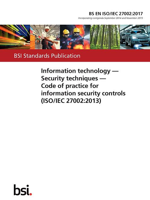 BS EN ISO/IEC 27002:2017