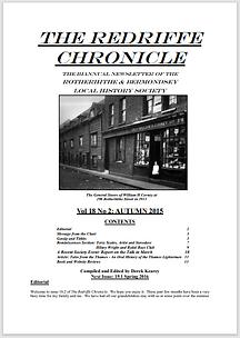 Redriffe Chronicle Vol 18 No 2 Autumn 20