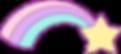 Regenbogen Einhorn Farben schillern glitzern