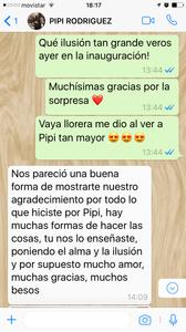 mensaje de María, la mamá de Pipi