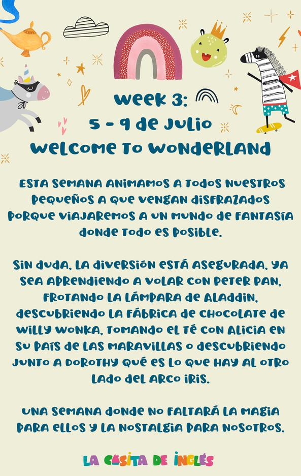 Week 3: Welcome to Wonderland