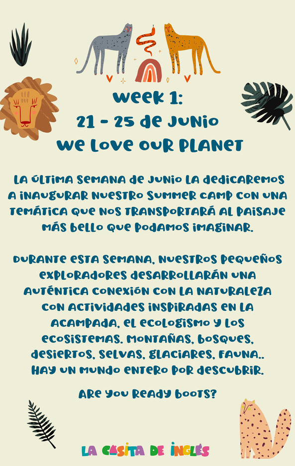 Week 1: We Love Our Planet