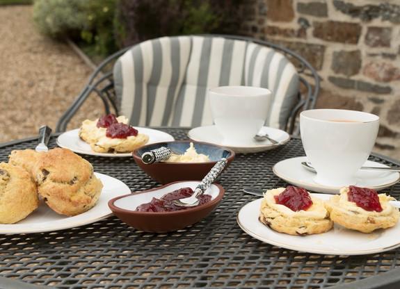 Cream tea at Lake Farm B&B