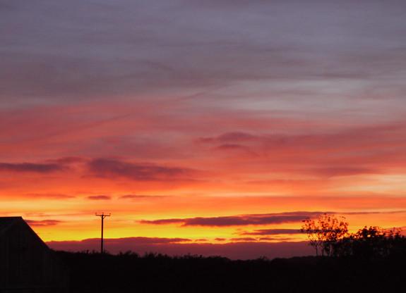 Sunset at Lake Farm