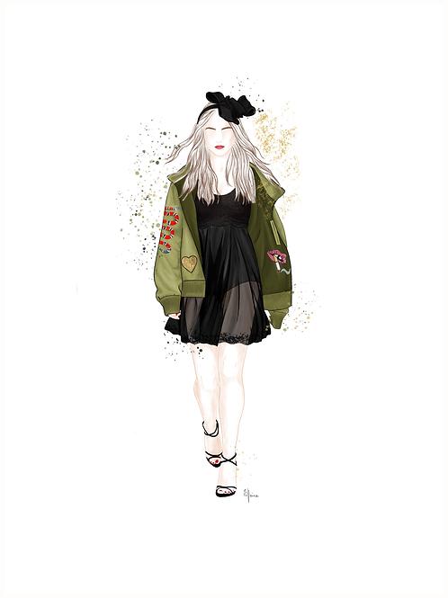 """Affiche """" Fashion Show GREEN """" - Tiphaine Soler"""