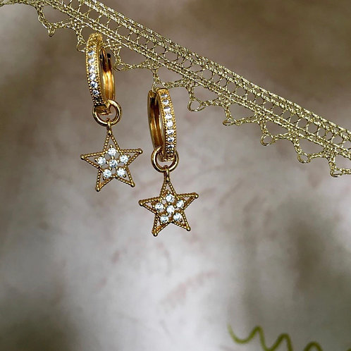 Mini Créoles Étoiles   KITSOUNÉ