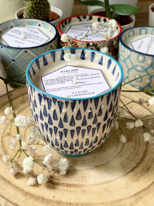 Bougie céramique bleu | ATELIER ST JULIEN