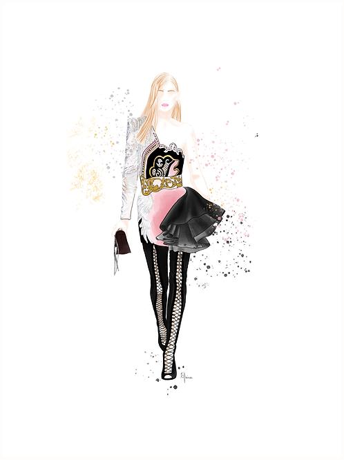 "Affiche "" Fashion Show PINK "" | Tiphaine Soler"