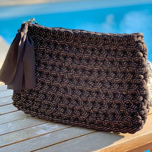 Pochette crochet Noir Irisé - GHJU CREAZIONE