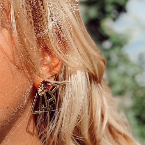 Boucles d'oreilles Félicia Prune | Bella Tchix