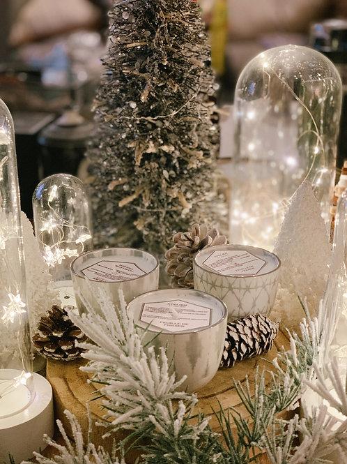 Bougie céramique Gris & Blanc  | ATELIER ST JULIEN