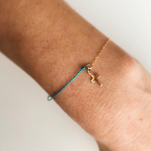 Bracelet Singulier Croix  | Mes Précieux