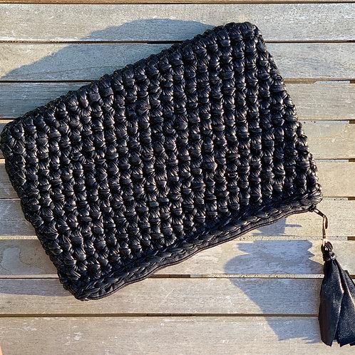Pochette crochet Noir simili - GHJU CREAZIONE