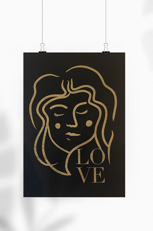 Affiche gravée LOVE | NOVA HOME DESIGN