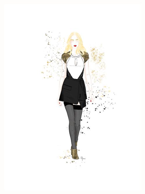 "Affiche "" Fashion Show GOLDY "" | Tiphaine Soler"
