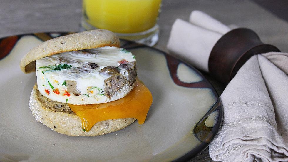 Egg white & turkey sausage sandwich