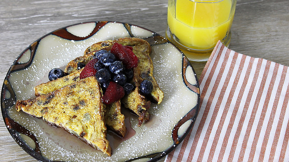 Cinnamon Raisin French Toast with Mixed Berry