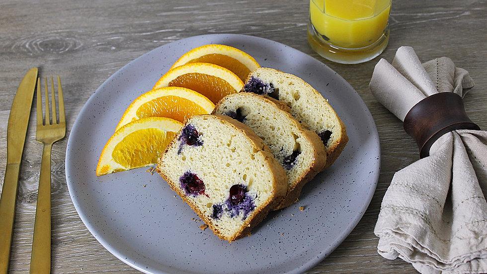 Blueberry Bread & Orange Wedges