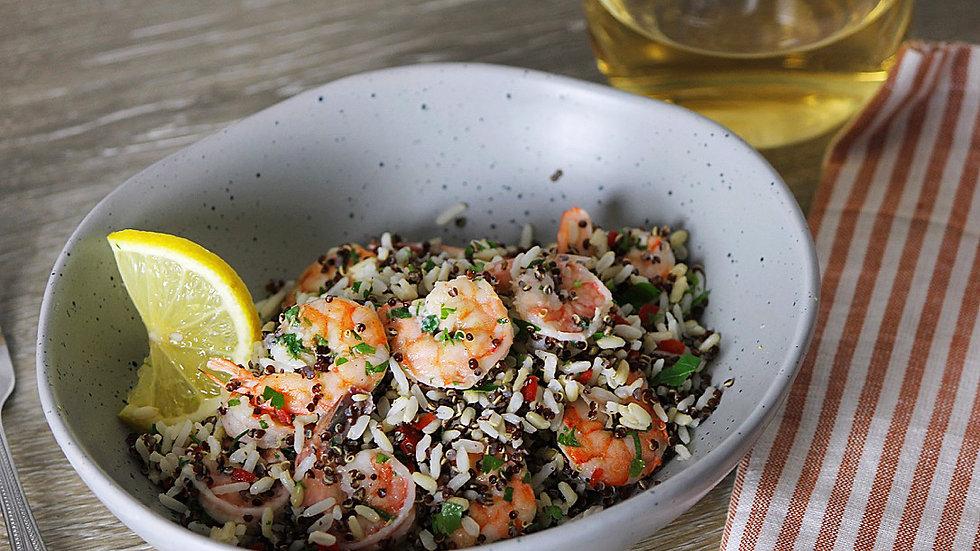 Shrimp Scampi & 3-Grain Veggie Pilaf