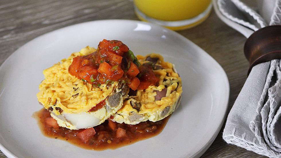 Frittata Bites with Tomato Salsa