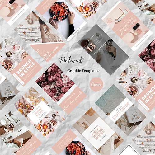 Pretty In Pink Pinterest Graphic Templates