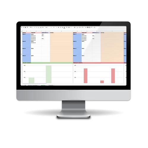 Marketing Calendar & Email Marketing Analytics Template