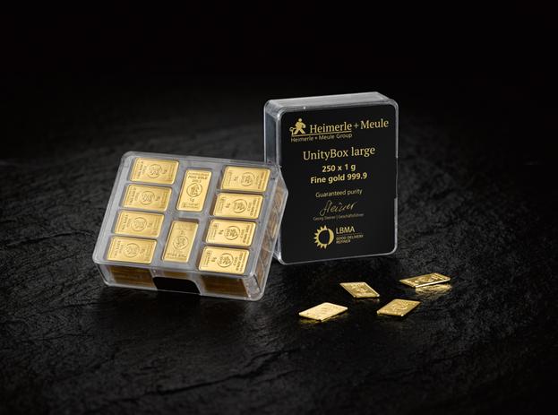 1 g set 200 Goldbarren