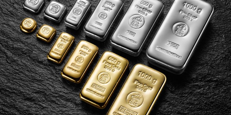 Gussbarren Gold & Silber