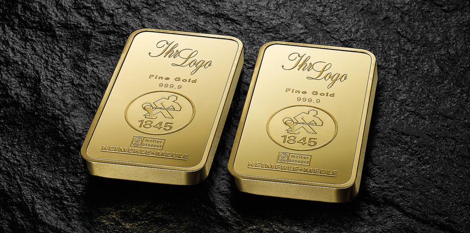 Personalisierte Goldbarren