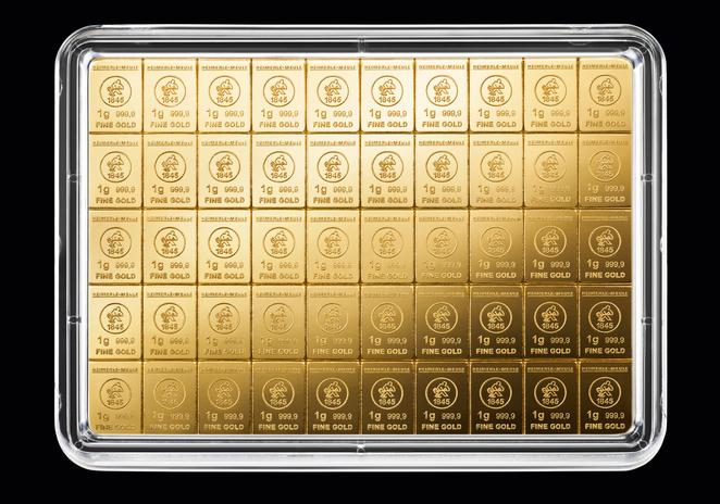 1 g Goldbaren 100 Stück