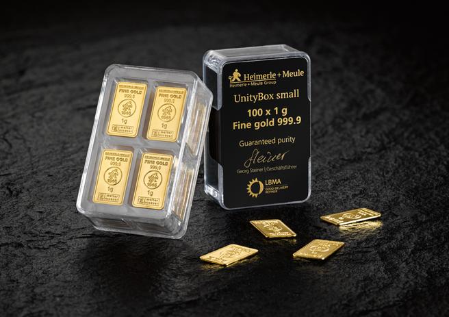 1 g 100 Set Goldbarren