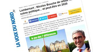 Nicolas Bouche interviewé par La Voix du Nord