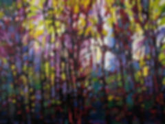 Kelly Crawford BC Artist - Light and Trees, Oil on Canvas