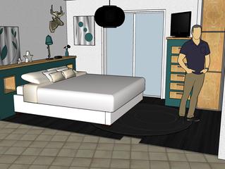 Avant Projet : Modifier une chambre et une sdb séparées pour créer une suite parentale!