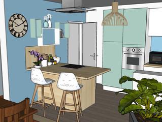 Avant Projet : Transformer un bureau en cuisine ouverte sur le Salon Séjour !