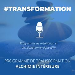 programme méditation énergétique transfo